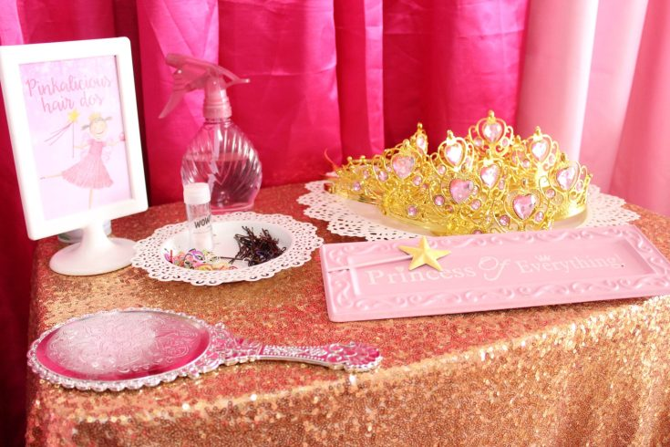 Princess Hair Styling Kids Birthday Party Ideas
