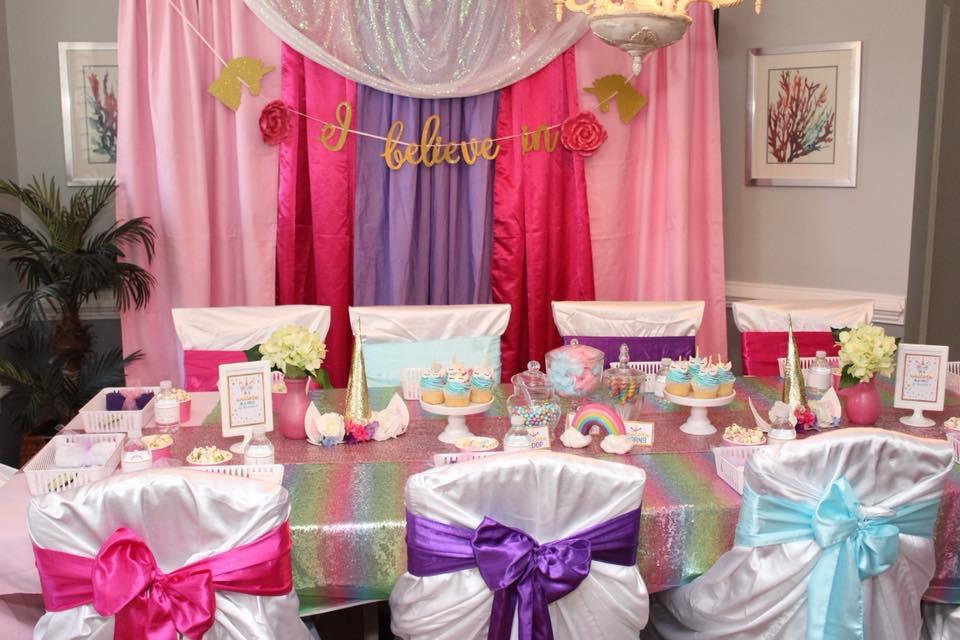 Unicorn Spa Party Decor