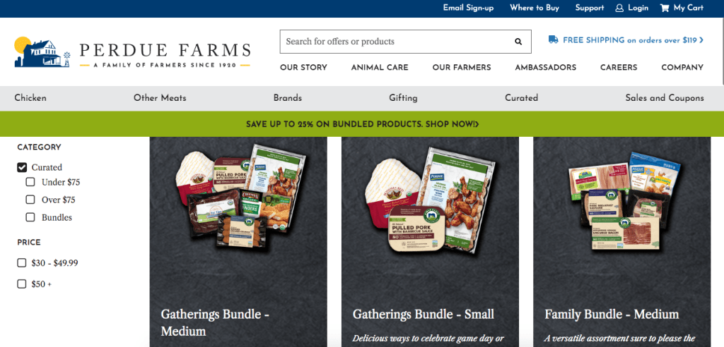 Easy to Shop Online for Quality Meat with new Perdue Farms website!