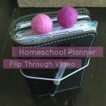 Planner Flip Through: Homeschool Planner in a FoxyFix Travelers Notebook
