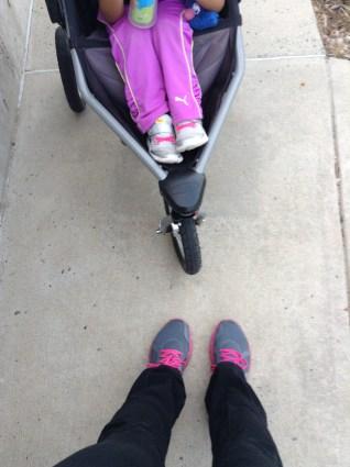 Relaxing after a Stroller Jog