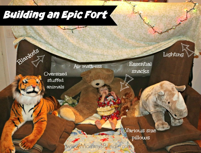 how to build an epic fort with kids