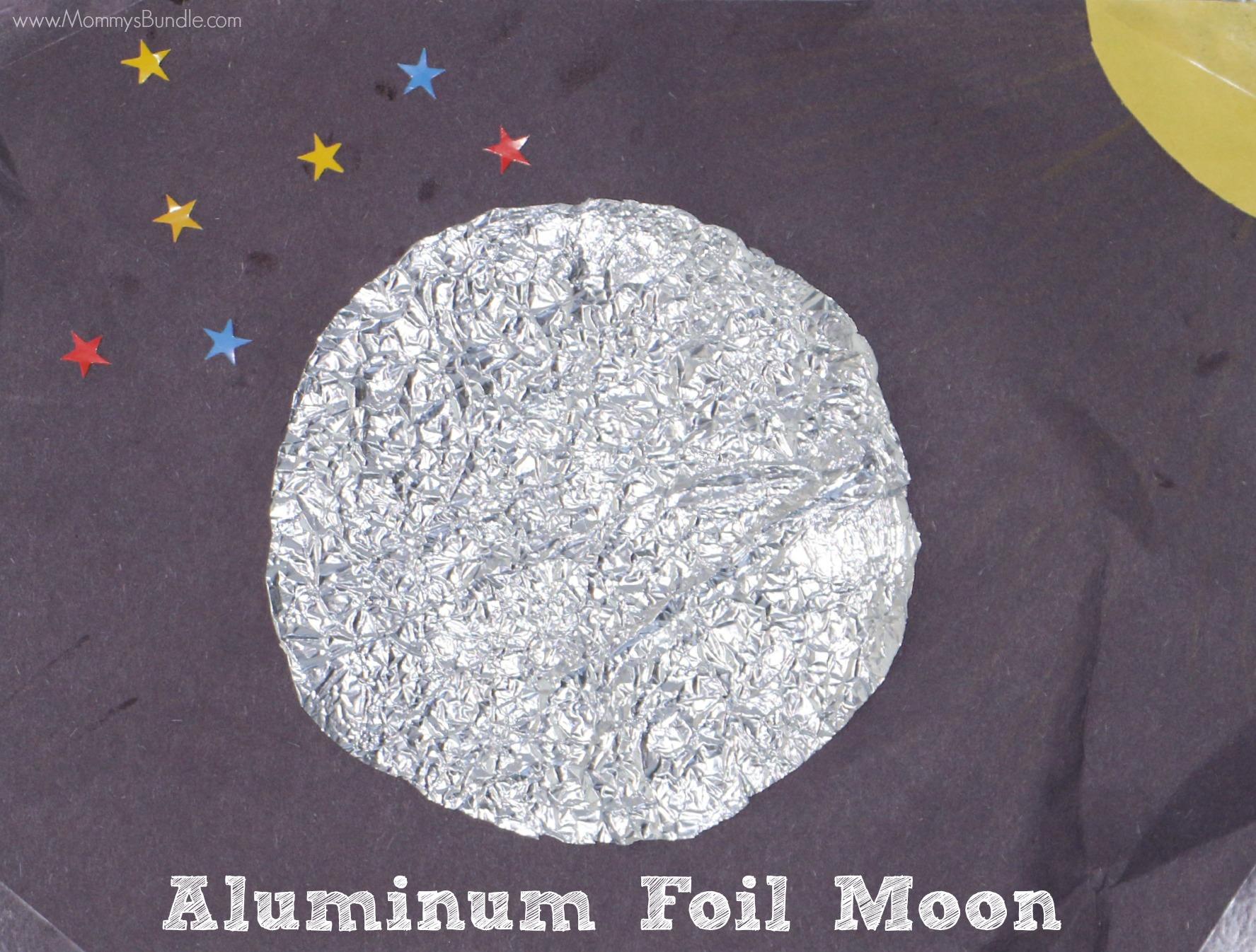 Aluminum Foil Moon Sensory Craft