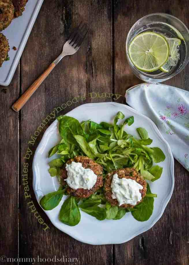 quick and easy dinner ideas, simple dinner ideas, quick lentil patties