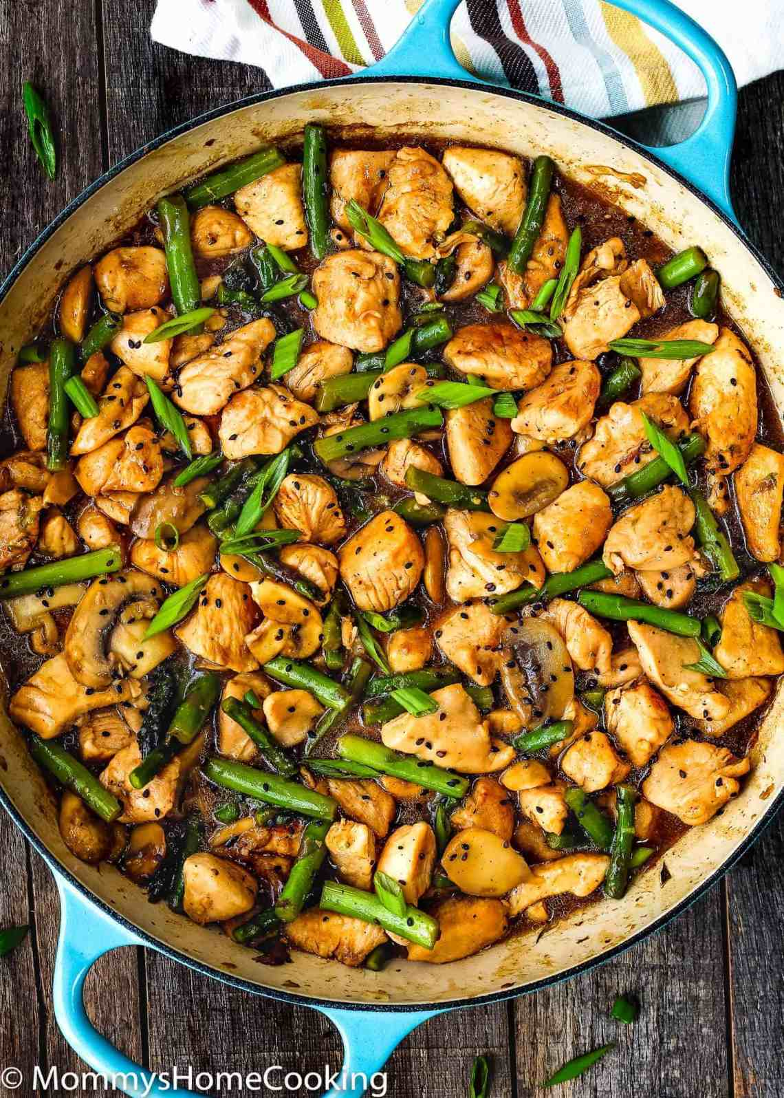 Easy Healthy Chicken and Asparagus Skillet - Mommy's Home ...