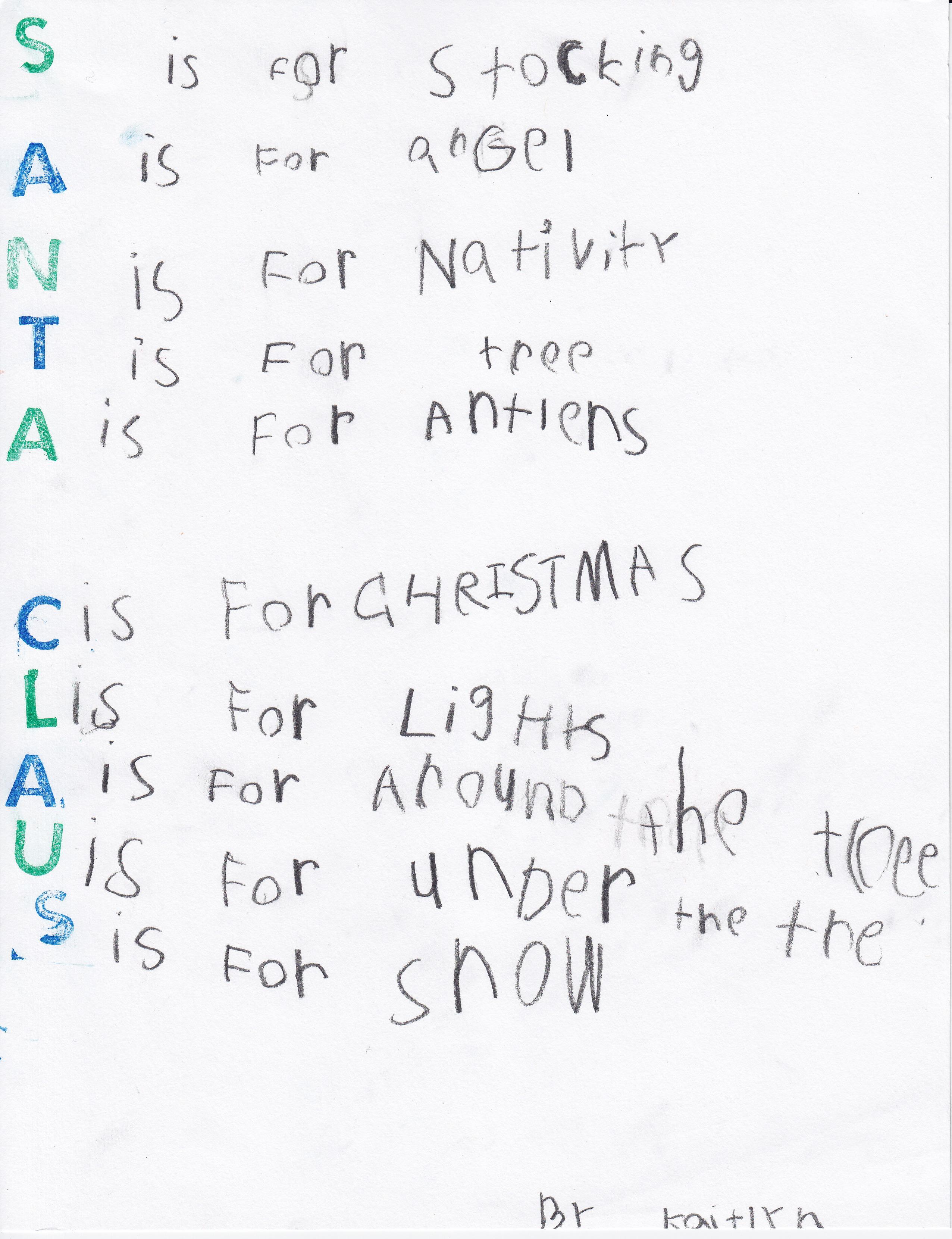 Funny Christmas Poems Worksheet