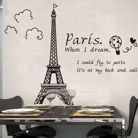 Paris Vinyl Wall Decal