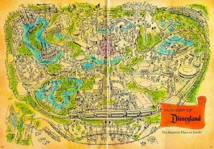 1959 map of disneyland