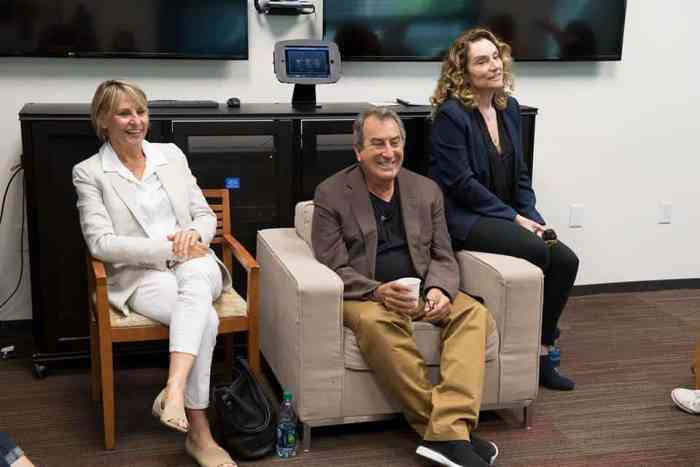 Kenny Ortega, Josann McGibbon and Sara Parriott