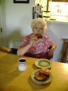 grandma enjoying coffee