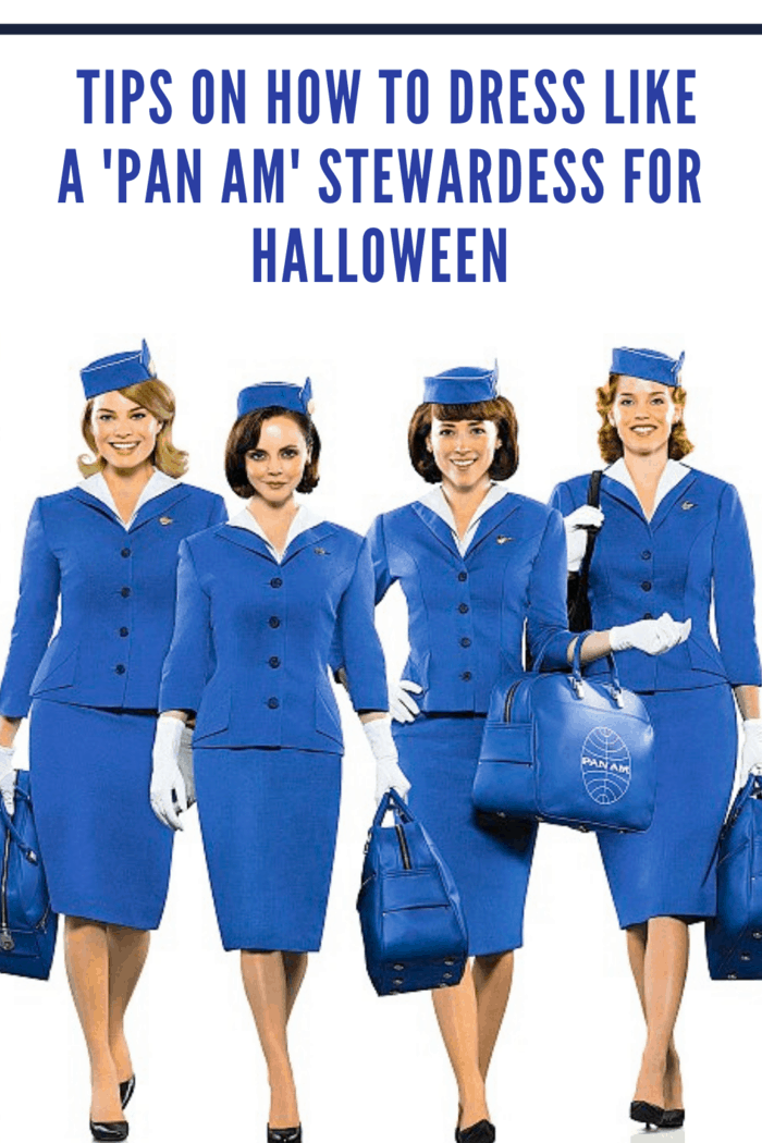 pan am stewardess costume on our women