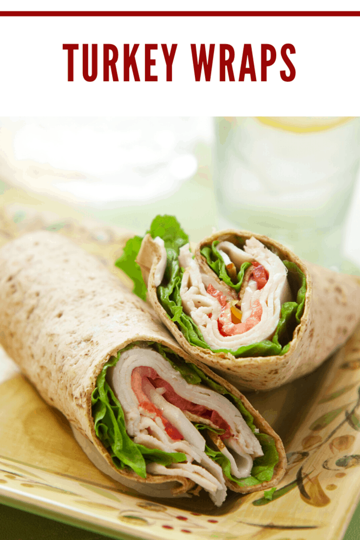 These turkey wraps are stuffed with delicious turkey, carrots, cream cheese, lettuce, and cheese. They are a power snack to keep you going, or an easy lunch or dinner.
