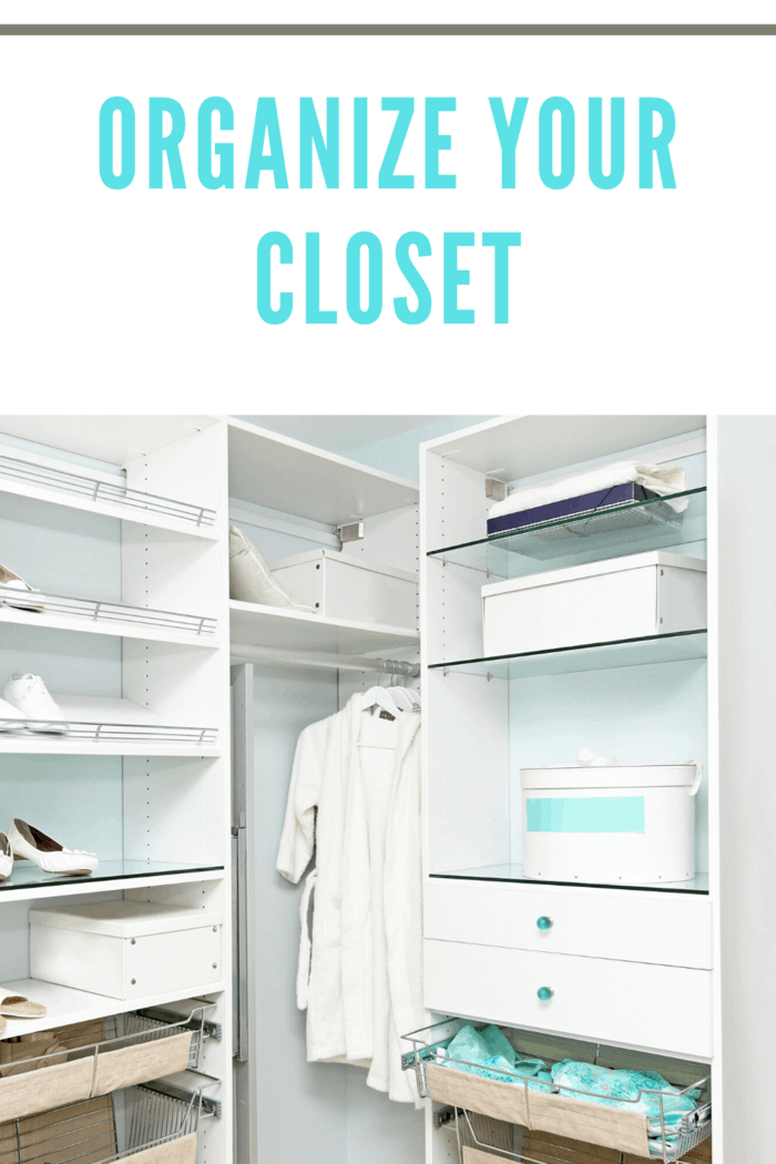 Organize your closet. ou can start to perform by separating your clothes by function:  dresses, tops, shoes, etc.