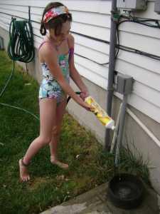 clean water fun: garden hose filter