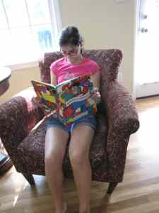 My tween reading Where's Waldo?