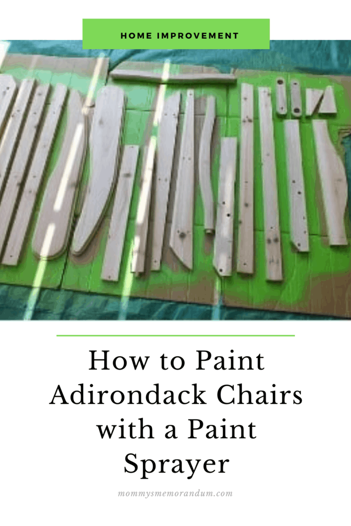 there is no time like the present to paint those Adirondack chairs I received from my sister last year for my birthday.