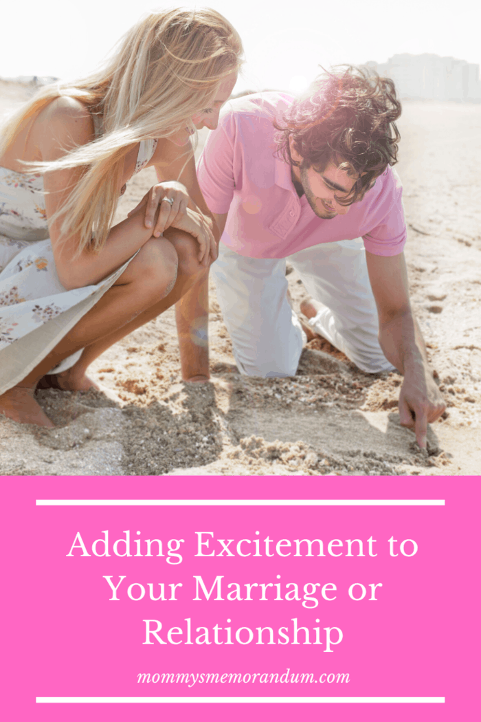 Add excitement to your marriage or relationship by one key to keeping the romance alive is to make sure to switch up the scenery from time to time.