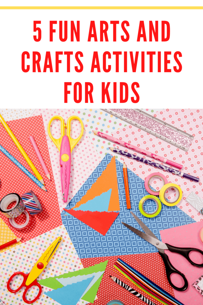 Arts and crafts can build confidence, imagination, and encourage self-expression. Here are 5 fun arts and crafts activities for kids.