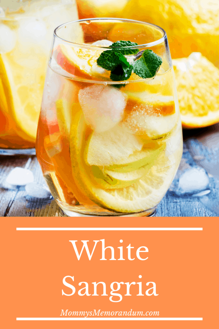 This is a great white sangria to drink on your own or share with friends.