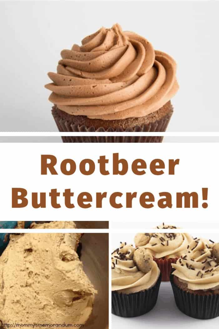 cupcakes with rootbeer buttercream frosting