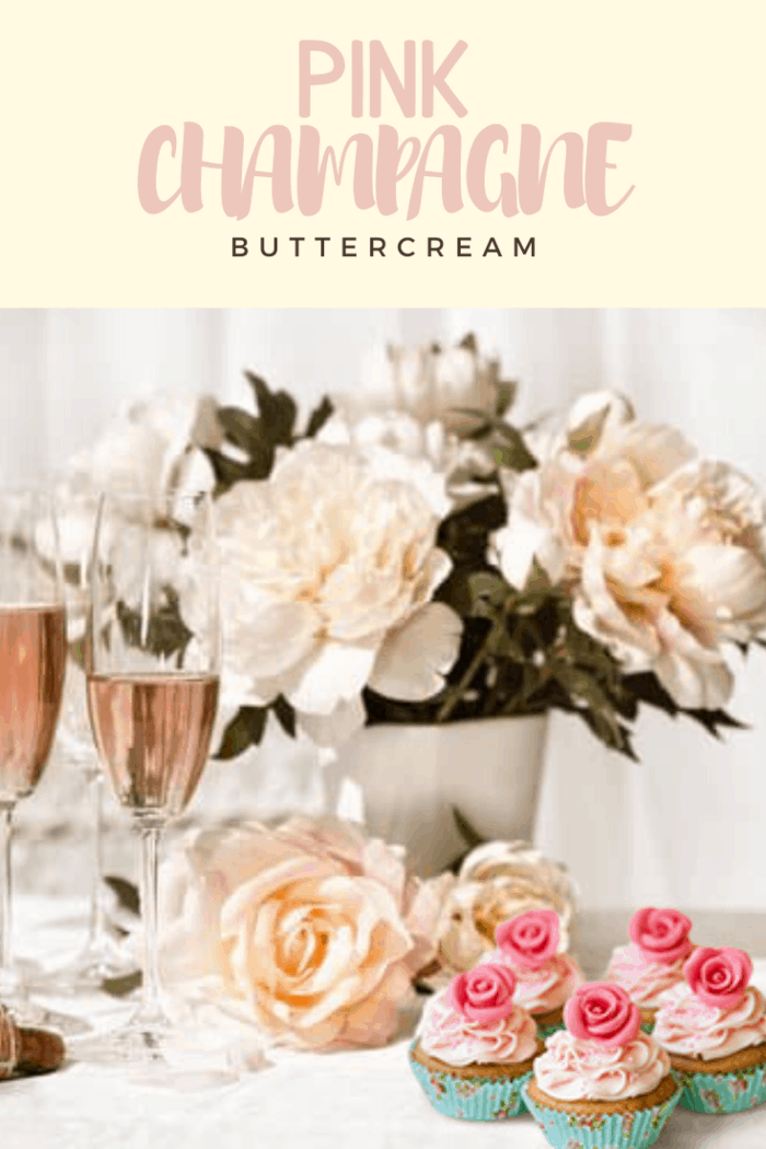 No need to do a champagne reduction here, this Pink Champagne Buttercream is delicious and there's no need to save it for special occasions.