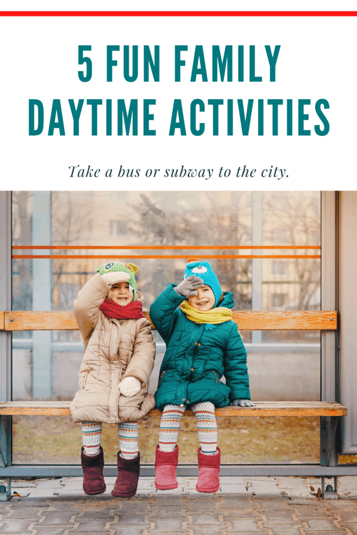 Kids are pretty fond of field trips, so pick up a local travel guide and whether it's by bus or subway (or even a trolley), hop on board and look at all of the sites that your city has to offer.