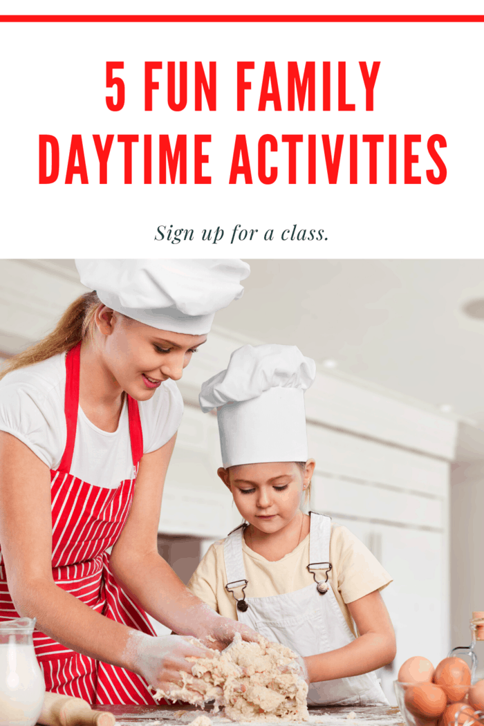 Doing arts and crafts or even a little cooking can be fun at home, but it can be even more exciting if you're learning by a professional instructor.