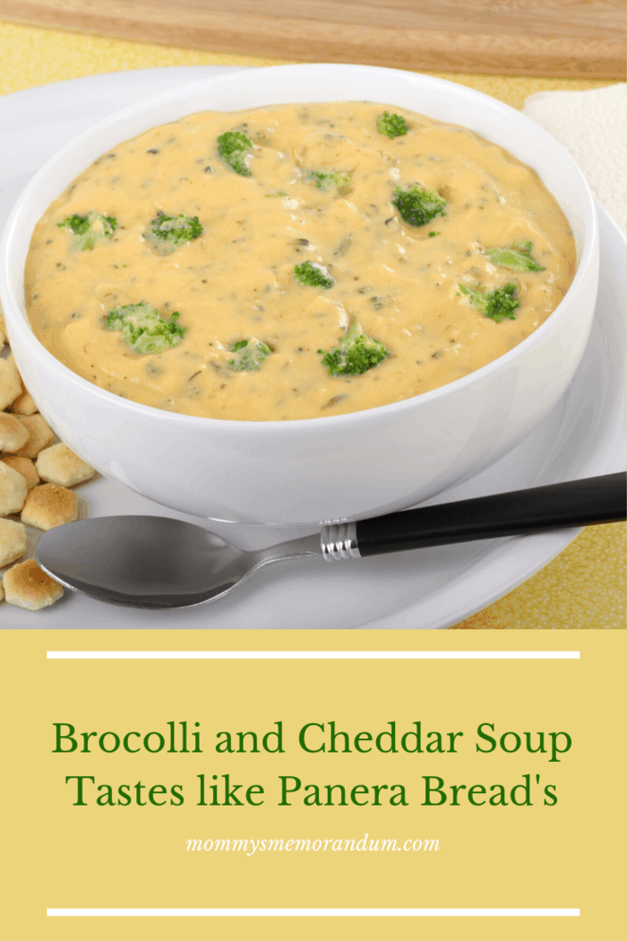 Panera Bread's Broccoli Cheese Soup is comfort food for the soul. Crisp fall and chilly winter weather begs for the creamy texture and the flavor of rich cheddar with pieces of broccoli. It's oh, so good! Now there's no need to fight the weather, make it when you crave it--this recipe tastes as good as it does inside Panera Bread!