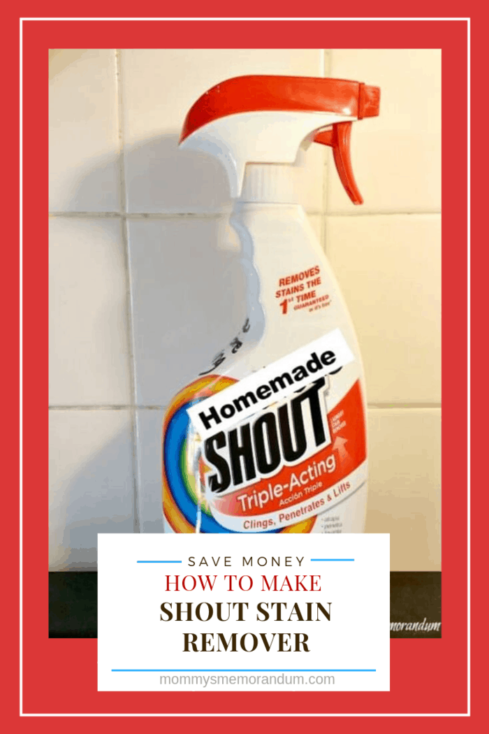 Make your own homemade Shout stain remover with this DIY recipe. Works in HE machine safe and gets out all those nasty stains. #homemadeshout, #homemadestainremover, #stainremover, #diystainremover, #laundry, #laundryhack, #makeyourown #makeyourownstainremover #DIY Homemade Shout Stain Remover #laundry #homemadeshout #homemadestainremover #stainemover #diystainremover #laundry #laundryhack