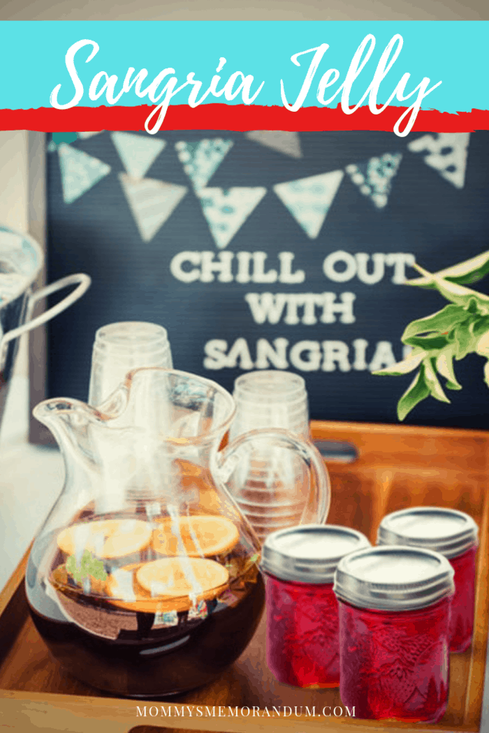 This Sangria jelly is just like drinking a sangria! Try serving it as an appetizer with crackers and cheese; it makes the best wine and peanut butter sandwich.