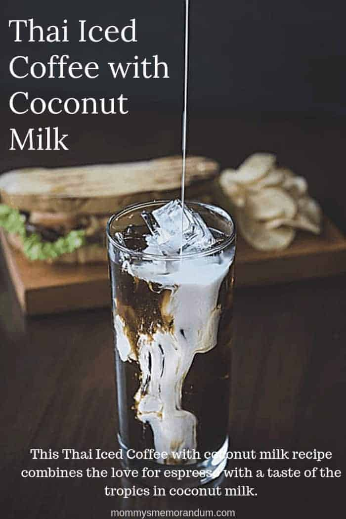 This Thai Iced Coffee with coconut milk recipe combines my love for espresso with a taste of the tropics in coconut milk.