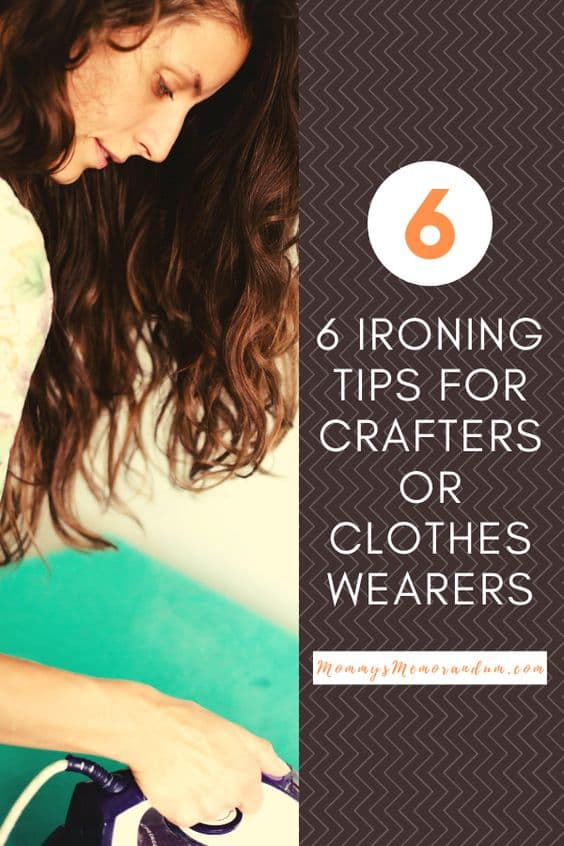 These six ironing tips will help make the most of your time with the iron whether you're a crafter or clothes wearer.