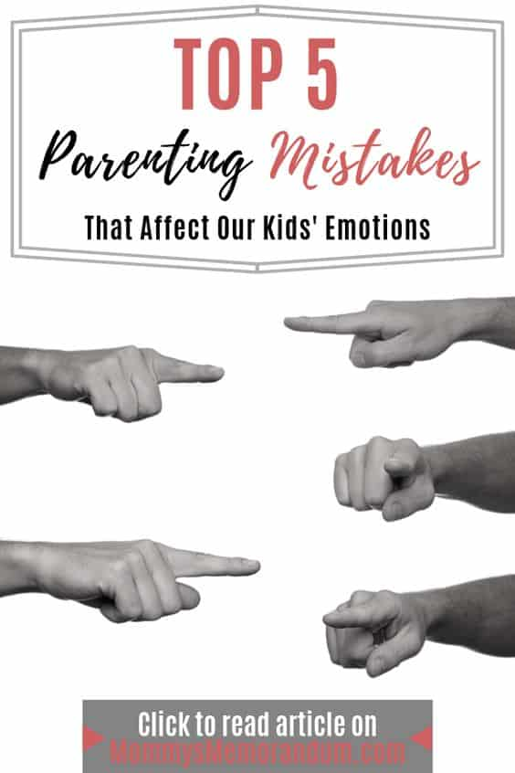 As parents we are trying to raise resilient, responsible children and sometimes that means adjustments in their behavior. Here are 5 Mistakes made parenting the emotions of our children.