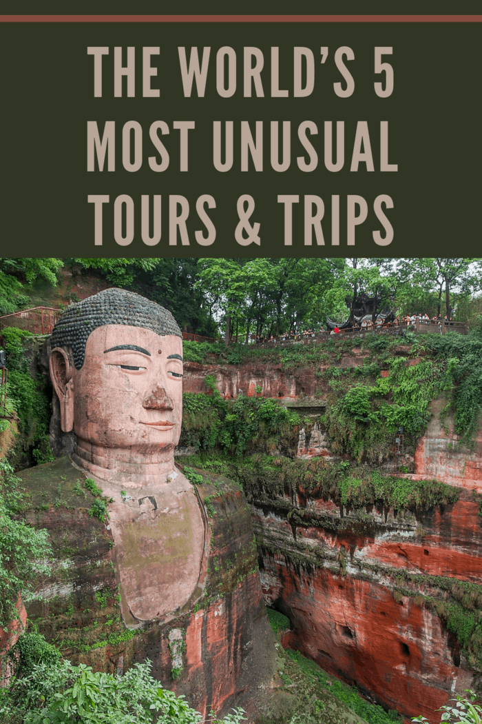 Check out one of these five unusual tours and trips from around the world.. It's a fun and weird piece of Sichuan and holds the honor of being the largest known image of the Buddha in the world.