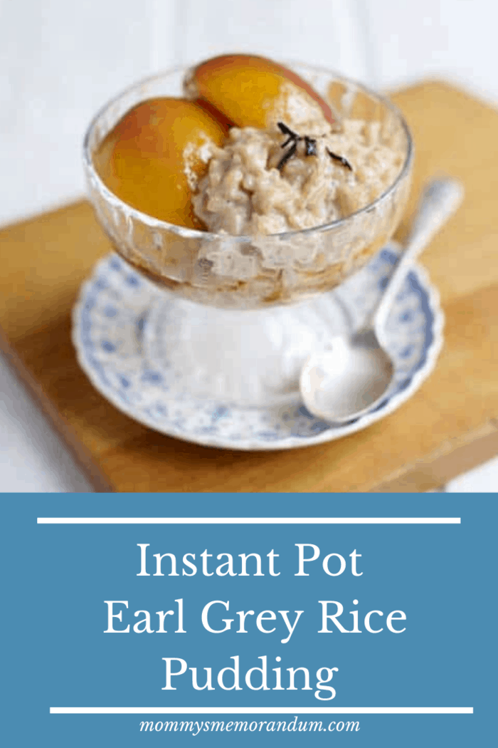 This Earl Grey Rice Pudding features a healthy touch and a nutty aroma and authentic Basmati rice infused with Earl Grey tea and topped with Nectarines and then drizzled with a vanilla, white wine syrup.