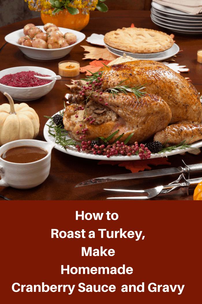 Roast Turkey with Pan Gravy and Fresh Cranberry Sauce Recipe