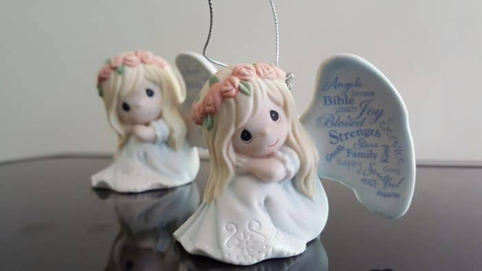 Precious Moments angel and angel ornament