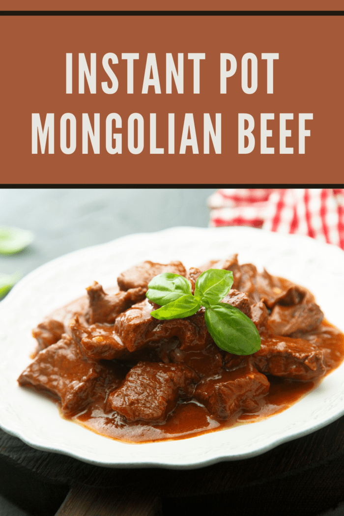 Instant Pot Mongolian Beef in bowl with sauce