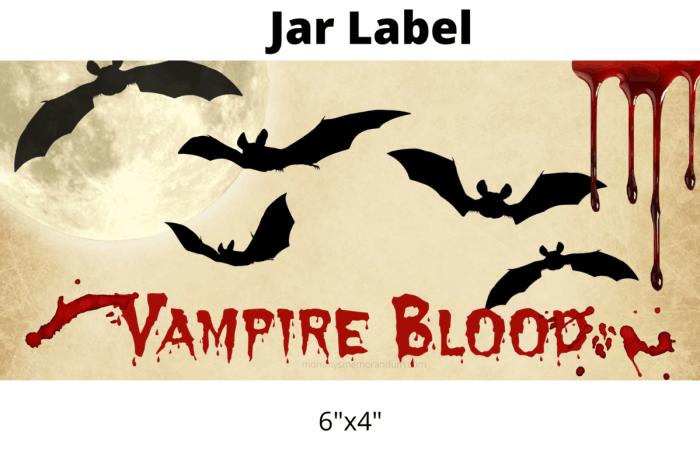 vampire blood slime label
