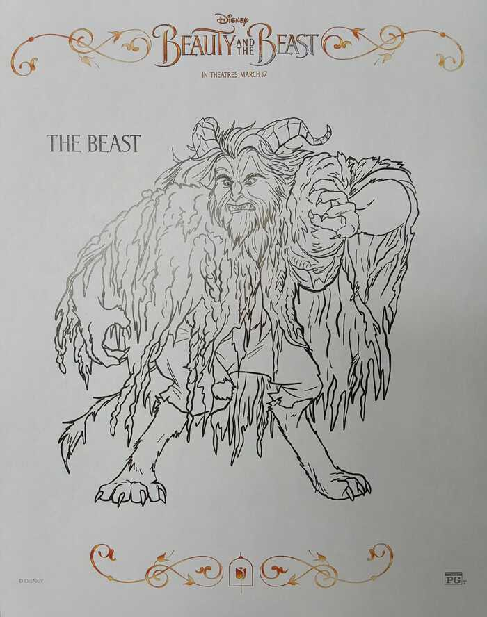 Beauty and the Beast Coloring Sheets The Beast