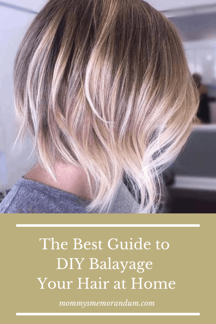Here's a super easy balayage hair color guide that you can complete at home.