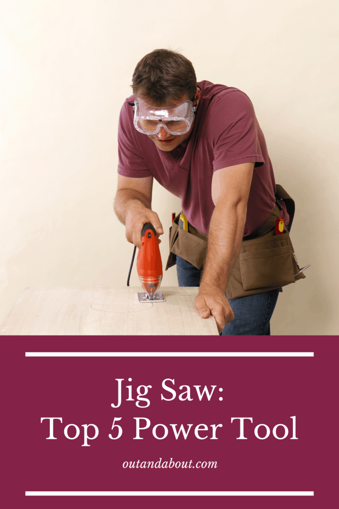 a jigsaw (alternatively referred to as saber saw) is great at cutting curved and circular patterns into your stock.