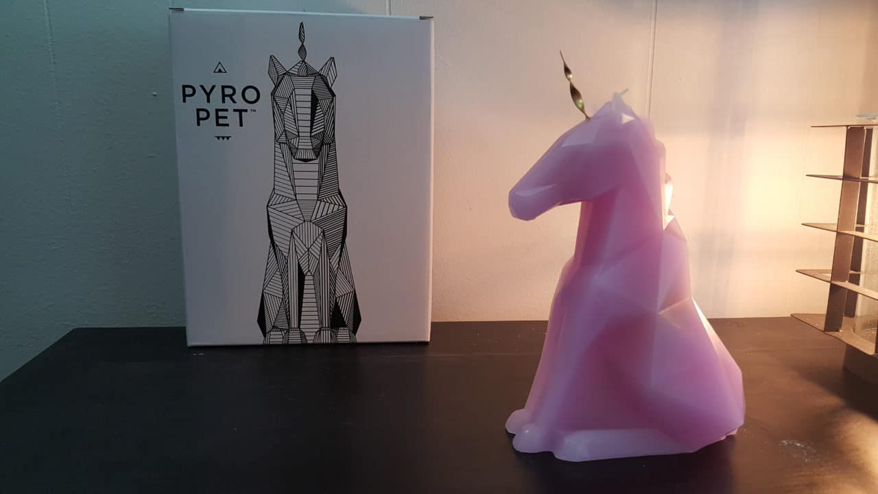pyropet unicorn candle
