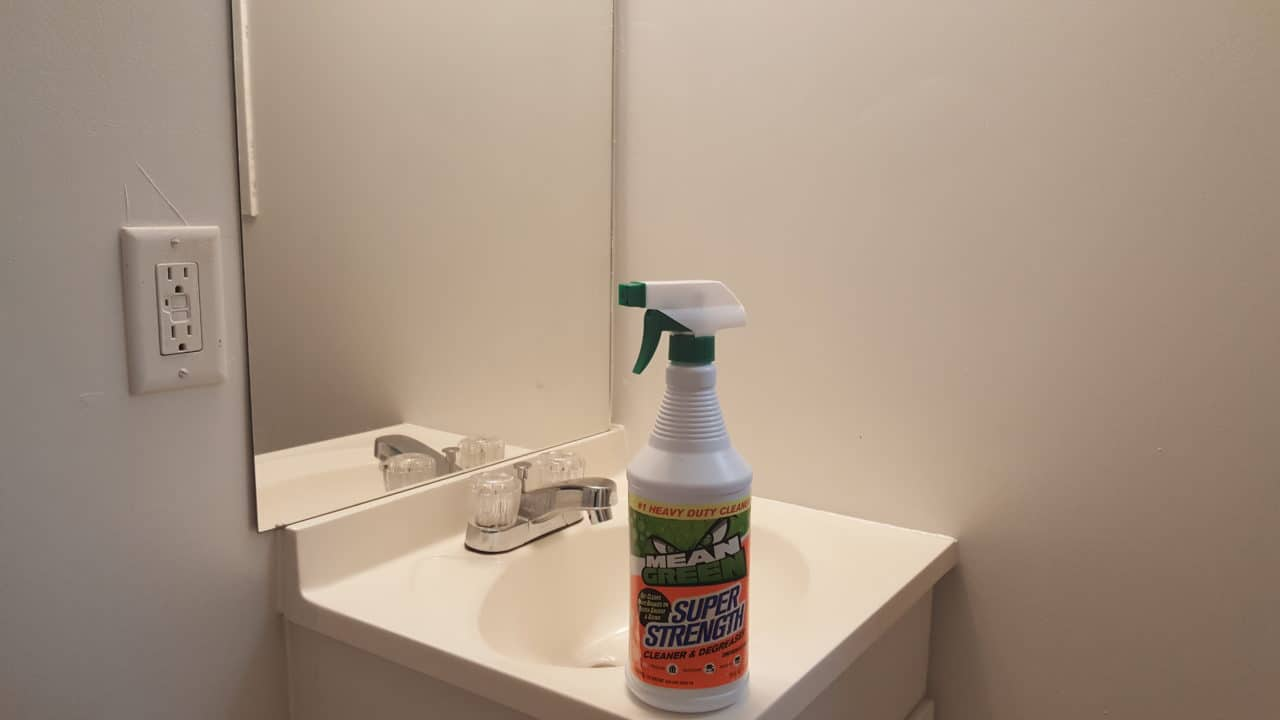 mean green super strength works great in the bathroom