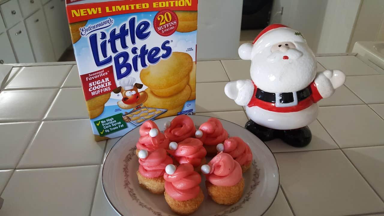 Entenmanns Little Bites Sugar Cookie Muffins Santa Hats SantaHats SugarCookies