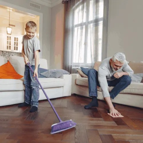 Photo Of Man Cleaning The Floor