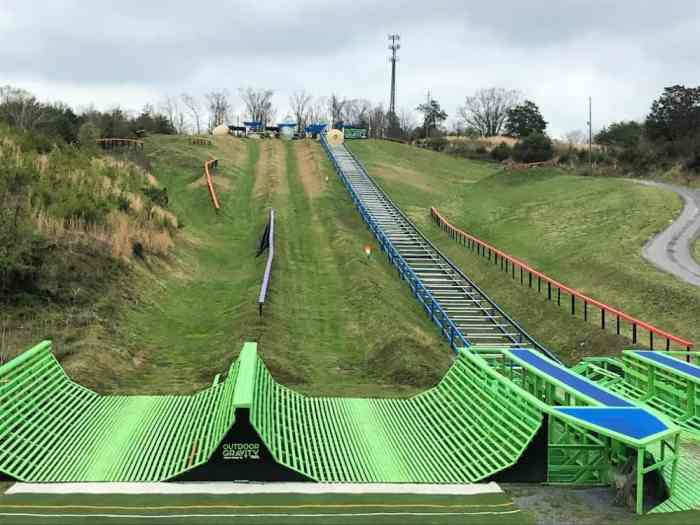 outdoor gravity park pigeon forge course