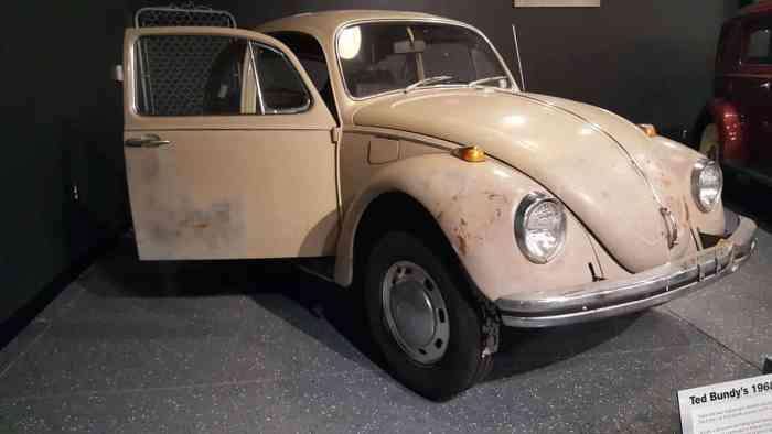 ted bundy's 1968 tan beetle
