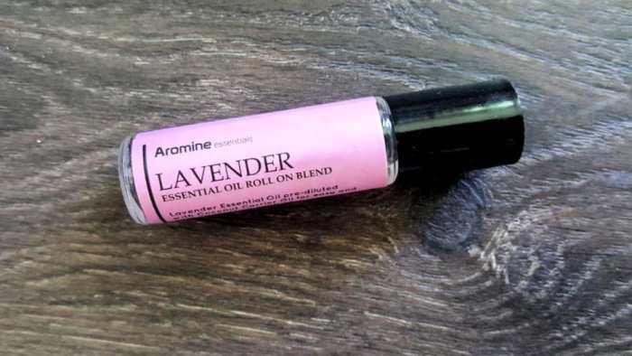 hellomd april box aromine lavender essential oil roll on