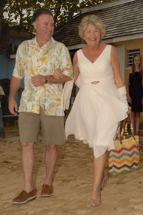 mother of the bride at a beach wedding
